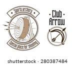 archery logo vector illustration | Shutterstock .eps vector #280387484