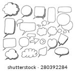 vector collection of hand drawn ...   Shutterstock .eps vector #280392284