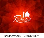 beautiful red color ramadan... | Shutterstock .eps vector #280393874
