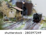 Model Train Stopped On The Rail ...