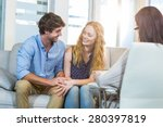 psychologist and happy couple... | Shutterstock . vector #280397819