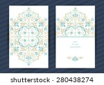 vintage ornate cards in... | Shutterstock .eps vector #280438274