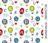 seamless baby vector pattern....   Shutterstock .eps vector #280441718