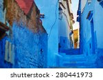 street in chefchaouen  morocco  ... | Shutterstock . vector #280441973