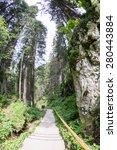 Small photo of Landscape from Bucegi Mountains near Padina plateau and Ialomita cave. Fish eye lens effects