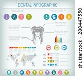 dental and teeth care... | Shutterstock .eps vector #280447550