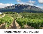 vineyards landscape near...   Shutterstock . vector #280447880