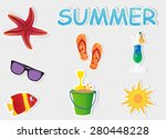 summer elements | Shutterstock .eps vector #280448228