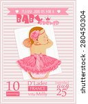 baby shower girl invitation... | Shutterstock .eps vector #280450304