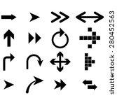 black arrows   icon | Shutterstock . vector #280452563