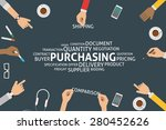 vector purchasing concept... | Shutterstock .eps vector #280452626