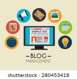 blog design over beige... | Shutterstock .eps vector #280453418