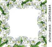 pattern orchid | Shutterstock .eps vector #280456664