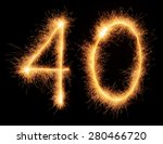 """40"" number drawn with bengali... 