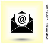 mail sign icon  vector... | Shutterstock .eps vector #280468106