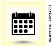 calendar sign icon  vector... | Shutterstock .eps vector #280469048