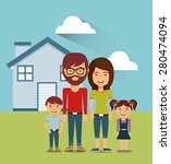 family concept design  vector...   Shutterstock .eps vector #280474094