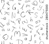 hand drawn seamless pattern of... | Shutterstock .eps vector #280475000