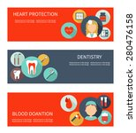 set of horizontal medical... | Shutterstock .eps vector #280476158