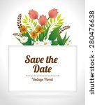 save the date design over white ... | Shutterstock .eps vector #280476638