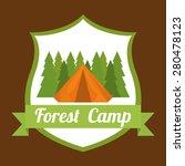 camping design over brown...   Shutterstock .eps vector #280478123