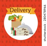 food delivery design  vector...   Shutterstock .eps vector #280478966