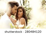 summer photo of beautiful young ... | Shutterstock . vector #280484120