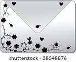 cover with silhouette of plant...   Shutterstock .eps vector #28048876