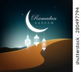 ramadan kareem greetings... | Shutterstock .eps vector #280497794