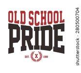 old school hardcore movement   Shutterstock .eps vector #280500704
