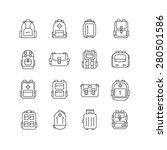 backpack outline icons set.... | Shutterstock .eps vector #280501586