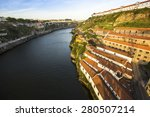 top view of douro river at... | Shutterstock . vector #280507214