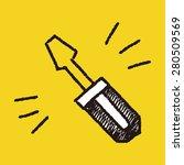 doodle screwdriver | Shutterstock . vector #280509569