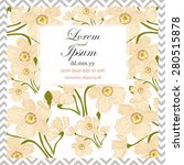invitation card with floral... | Shutterstock .eps vector #280515878