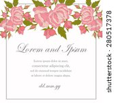 invitation card with floral... | Shutterstock .eps vector #280517378