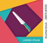 kitchenware knife flat icon...   Shutterstock .eps vector #280518500