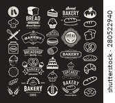bakery logotypes set. bakery... | Shutterstock .eps vector #280522940