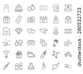 wedding vector icon set | Shutterstock .eps vector #280532723