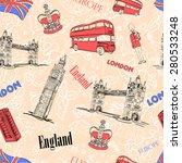 england london attractions... | Shutterstock .eps vector #280533248