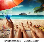 vacation. summer travel. man... | Shutterstock . vector #280538384