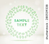 pattern round frame background | Shutterstock . vector #280539338