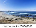 majestic morro rock over... | Shutterstock . vector #280542509