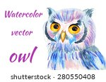 bright colorful watercolor... | Shutterstock .eps vector #280550408