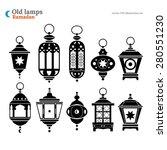 old east lamp ramadan kareem... | Shutterstock .eps vector #280551230