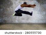 black urban hip hop dancer... | Shutterstock . vector #280555730