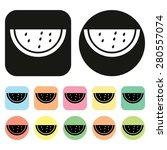 watermelon icon. fruit icon   Shutterstock .eps vector #280557074