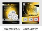 modern brochure design set  | Shutterstock .eps vector #280560599