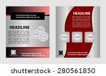 brochure template eps10 vector... | Shutterstock .eps vector #280561850