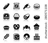 flat bakery icons set  isolated ...   Shutterstock .eps vector #280571108