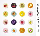 flat icons in a circle with... | Shutterstock .eps vector #280576910